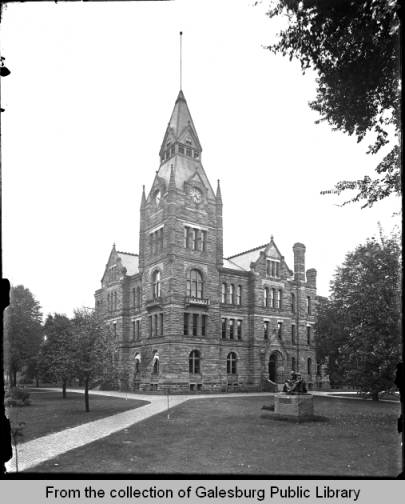 Knox County Courthouse, Galesburg, IL - 1914 - Galesburg Public Library