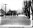 Rock Island street scene with flooding
