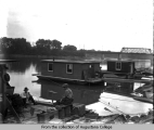 Rock Island, houseboats at 24th Street viaduct
