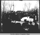 Augustana College, laying of cornerstone, Denkmann Memorial Library