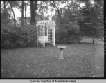 [Garden at Hauberg family home]