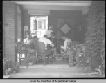 [Hauberg home, porch]
