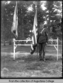 Illinois National Guard, John Henry Hauberg with flag