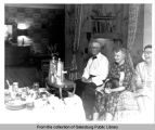 [Carl Sandburg, Esther Sandburg & Marie S. Swanson at Hotel Custer]