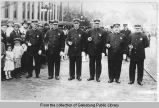 Galesburg police officers standing in street