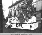 [Galesburg Public Library parade float]