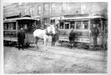 [Horse-drawn streetcars]