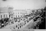 Mock funeral procession for Ulysses S. Grant