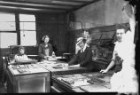 Galesburg Post Newspaper printing room
