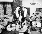 Christmas tree decorating at the nurse's home