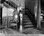 Interior view of the J.W. Bettendorf mansion-stairs