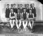 Group portrait of Gordon-Van Tine Company basketball team