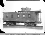 Exterior view of a Rock Island Lines caboose