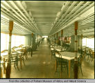 Mississippi River steamer interior