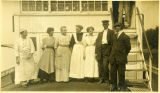 [Crew members] on deck of steamboat