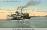 Steamer Quincy on Mississippi River