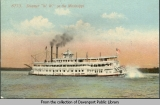 "Steamer ""W.W."" on the Mississippi"
