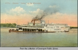 "Steamer ""Quincy"" on the Mississippi"