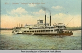 "Steamer ""Dubuque"" on Mississippi River."