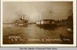 Steamer G.W. Hill, arriving at Davenport, Iowa