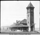 Passenger station. Davenport Rock Island and North Western Railway - Rock Island