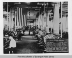Interior view of shop at Rock Island Arsenal