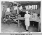 Workers packing cones at Turnbull's Ice Cream Cone Company