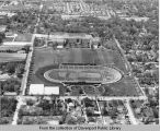 Aerial view of Rock Island High School and stadium