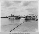 Ferryboat W.J. Quinlan off Davenport dock